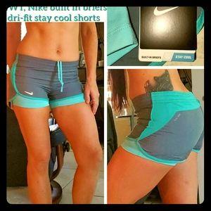 NWT, Nike dri-fit stay cool built in dreif shorts